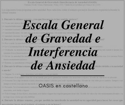 OASIS en castellano Oscura