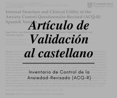 ACQ-R validación castellano Oscura