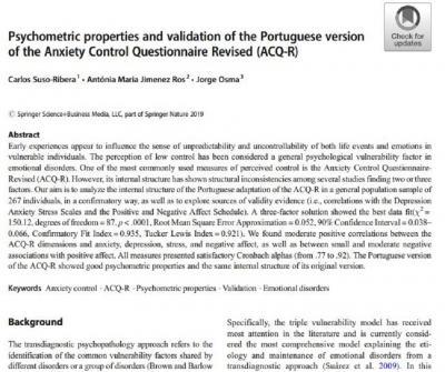 ACQ-R validación portugués