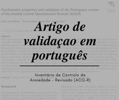 Articulo de validación en Portugues ACQ-R